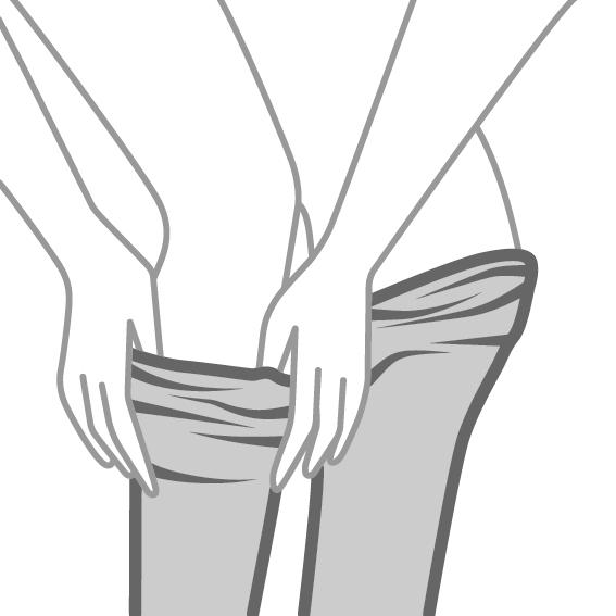 Odijevanje čarapa - 3.korak